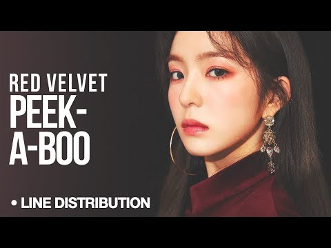 RED VELVET (레드벨벳 ) - Peek-A-Boo (피카부) : Line Distribution (Color Coded)