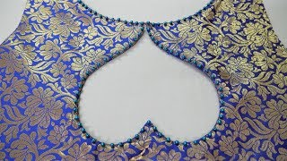 Latest And Easy Back/Front Boat Neck Design For Suit/Blouse Cutting And Stitching
