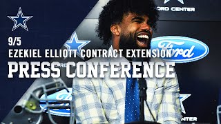 Running Back Ezekiel Elliott New Contract Press Conference | Dallas Cowboys