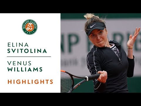 Elina Svitolina vs Venus Williams - Round 1 Highlights | Roland-Garros 2019