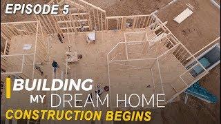 Ep 5 Building My Dream Home - Construction Begins - Half Log