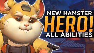 Overwatch: NEW Hero Wrecking Ball Gameplay! - ALL Abilities Breakdown!