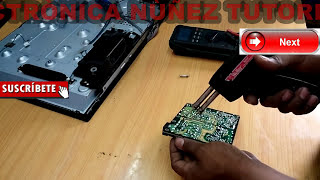 repair  tv LG LED que no enciende, equipo muerto fallas comunes,( video 1)
