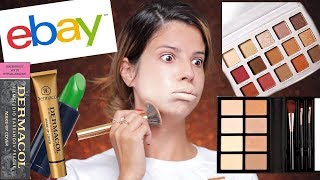 FULL FACE OF CHEAP EBAY MAKEUP