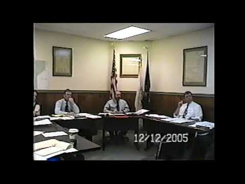 Champlain Village Board Meeting 12-12-05