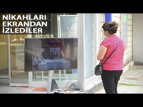 Bahçelievler'de Aileler Nikahları Ekrandan İzlediler