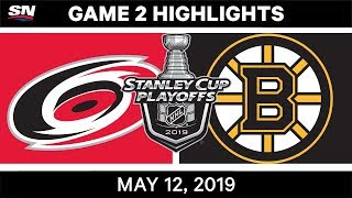 NHL Highlights | Hurricanes vs. Bruins, Game 2 – May 12, 2019