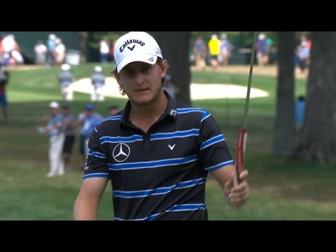 Emiliano Grillo pours in a long-range birdie putt at PGA Championship