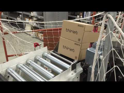 AmbaFlex Spiral Conveyor for frozen trays and ice cream