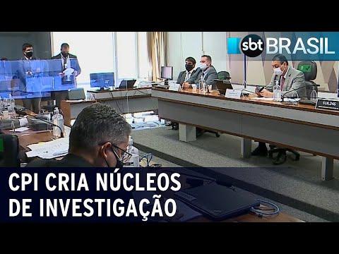 CPI da Pandemia cria 7 núcleos de investigação   SBT Brasil (21/07/21)