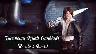 Functional Squall Gunblade Revolver Sword - Final Fantasy Gunblade - SwordsKingdom