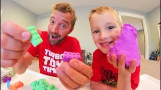 FATHER SON PLAY-DOH LEGO'S!? / Mad Mattr!