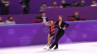 2018 Winter Olympics figure skating ice dance Short : USA (CHOCK Madison / BATES Evan) (4K)