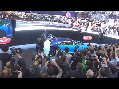 Bugatti Chiron Exclusive Introduction at Geneva Motor Show 2016 in 3D