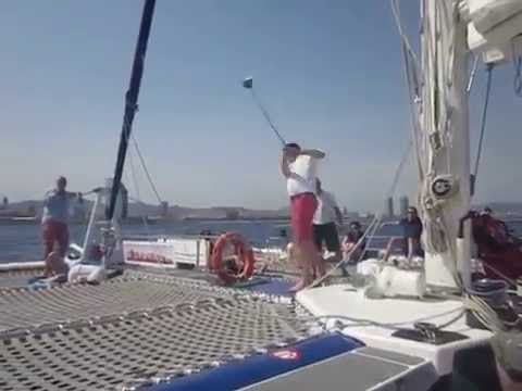 ALBUS GOLF (Video 23) Golf event in Catamaran Orson (Barcelona July 2016)