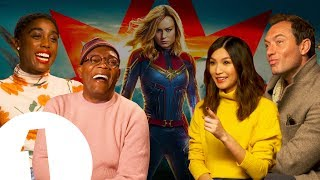 """The Captain Marvel cast on keeping the MCU's secrets: """"I didn't say anything to anyone!"""""""
