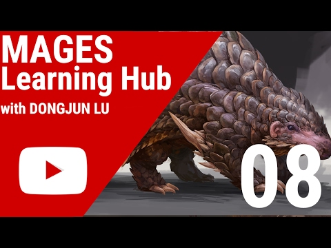 Digital Painting Tutorial 08 - Scaled Creature