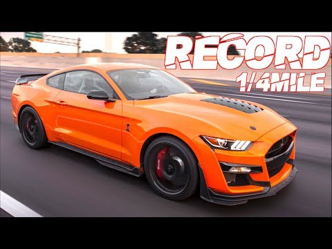 "2020 Shelby GT500 Breaks 1/4 Mile Record! Best Ford Mustang Ever"" (Only 2 Engine Mods!)"
