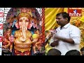 Huge Devotees Rush at Khairatabad Ganesh 2nd day | Chairman Rajkumar Face to Face| hmtv Telugu News