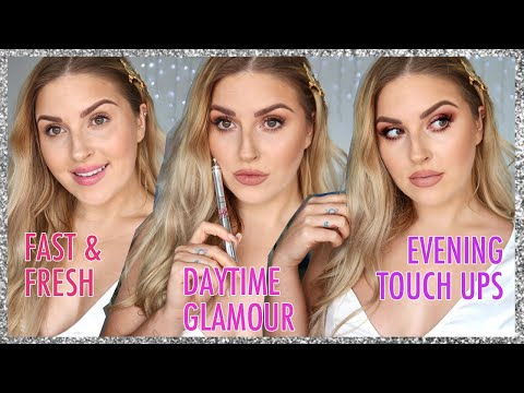 3 in 1 makeup tutorial w touch ups! ? EVERYDAY makeup to SIMPLE GLAM