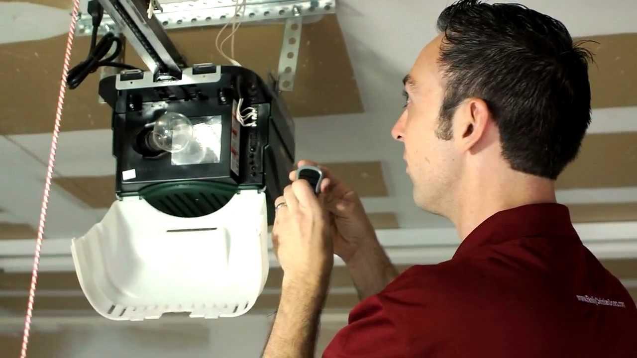 Genie Garage Door Opener Programing Remote Youtube