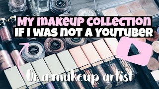 MY MAKEUP COLLECTION IF I WASN´T A YOUTUBER OR A MAKEUP ARTIST