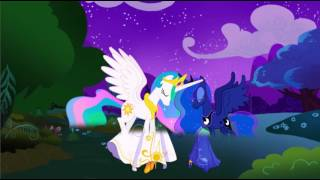 My Little Pony Transforms - Princesses Luna Celestia into Human Girls - MLP Coloring Videos For Kids