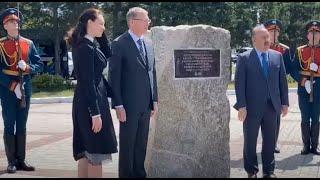 В Омске заложили камень на месте будущей стелы «Город трудовой доблести»