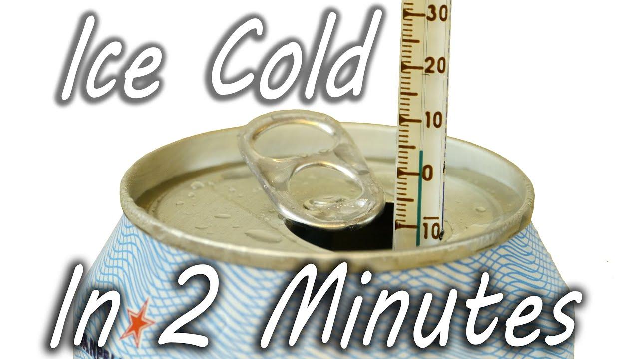 Comment rafraichir une boisson en 2 minutes ?