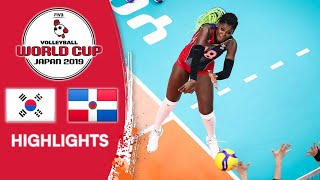 KOREA vs. DOMINICAN REPUBLIC - Highlights | Women's Volleyball World Cup 2019