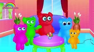 Cute Mega Bebê Gummy Bear Dinossauro Brincadeira Finger Family Song | Coleção De Vídeos Gummy Bears