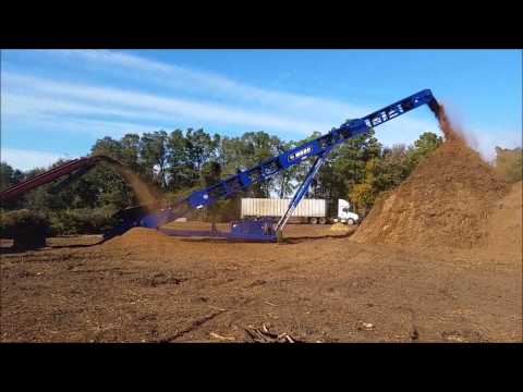 Edge MS80 Radial Stacker on Mulch from grinder