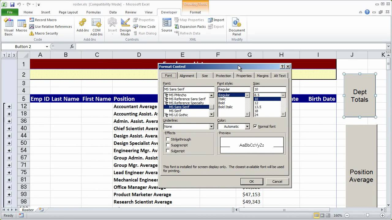 Creating a simple macro in Excel 2010 - Part 2