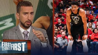 Giannis' weakness was exposed against the Raptors - Nick Wright | NBA | FIRST THINGS FIRST
