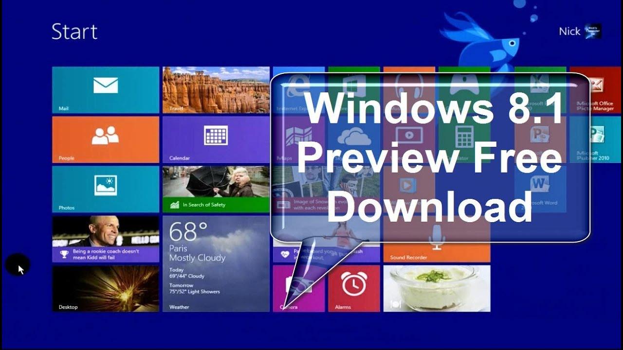 Microsoft windows 8 1 free download