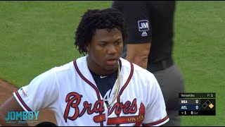 The Marlins hit Acuña again and Snitker gets ejected, a breakdown