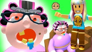 My Grandmas Crazy House ! Roblox Obby  Let's Play Video Games with Cookie Swirl C