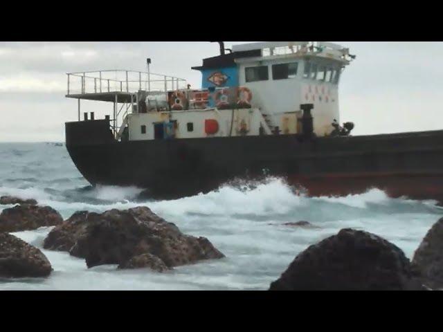 台籍貨輪擱淺屏東外海 7船員平安獲救