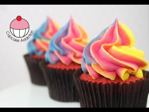 Easy Rainbow Frosting Swirl Technique For Cupcakes A