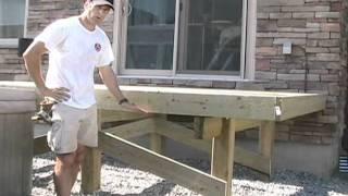 Building Free Standing Deck Bracing Posts You