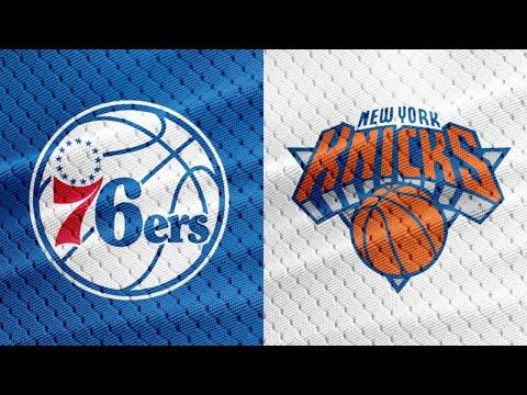 Philadelphia 76ers vs  New York Knicks Live Play by Play & Reaction!!!