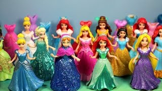 NEW MAGICLIP Disney Princesses Collection with dresses & dolls Cinderela, Tiana, Ariel
