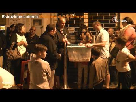 Estrazione lotteria Madonna di Grottaferrata 2014