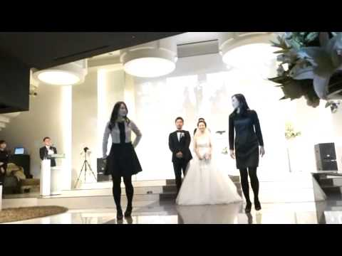 큰언니 결혼식! 두 동생의 축하댄스~ 신랑신부의 자축댄스까지^^