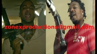 Houston rappers NFL Cartel Bo vs Sauce Walk BEEF,,sauce pulls up at his house!