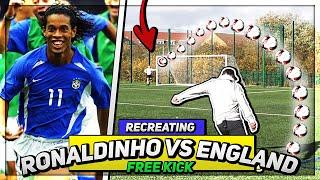 Recreating THAT Ronaldinho Goal Against England