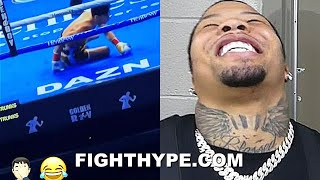 GERVONTA DAVIS BUSTS OUT LAUGHING WATCHING RYAN GARCIA KNOCKDOWN; STUDYING FILM & GETTING READY