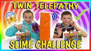 TWIN TELEPATHY SLIME CHALLENGE | WE PASSED! | We Are The Davises