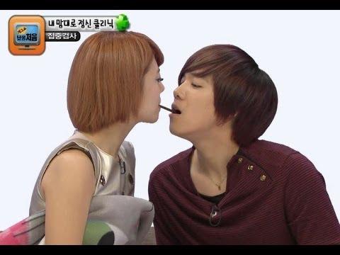 【TVPP】Rainbow - Pepero game Hongki & Yoonhye, 레인보우 - 홍기와 윤혜의 빼빼로 게임 @ Gag Show