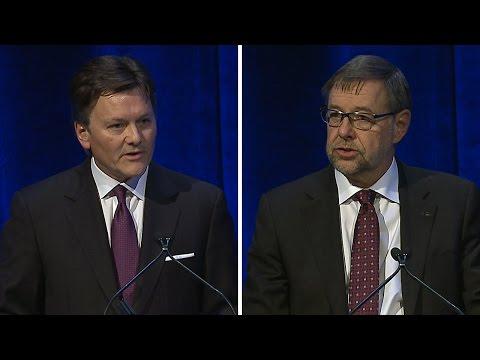 Co-Presidents Kelvin Dushnisky and Jim Gowans at 2015 Shareholders Meeting